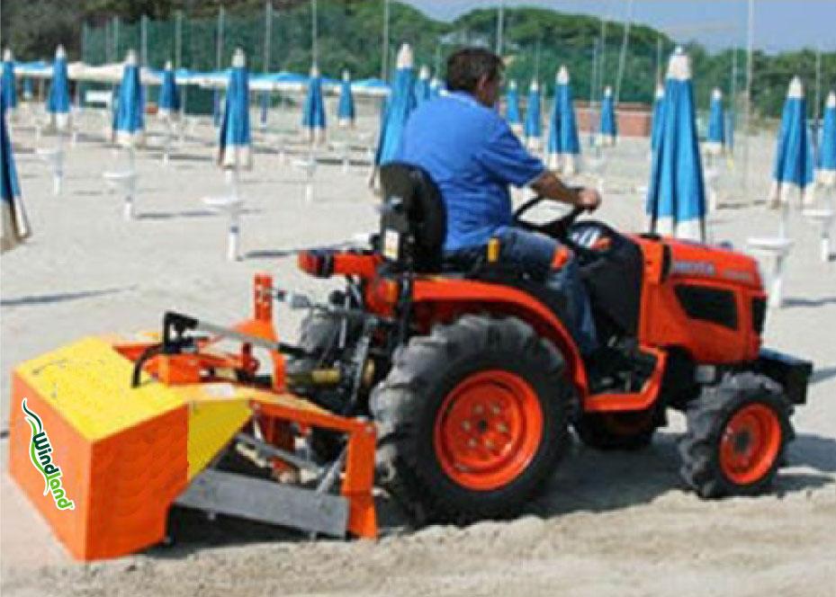 Playas y arenales cuidados con la limpiadora BPCE1200 Windland