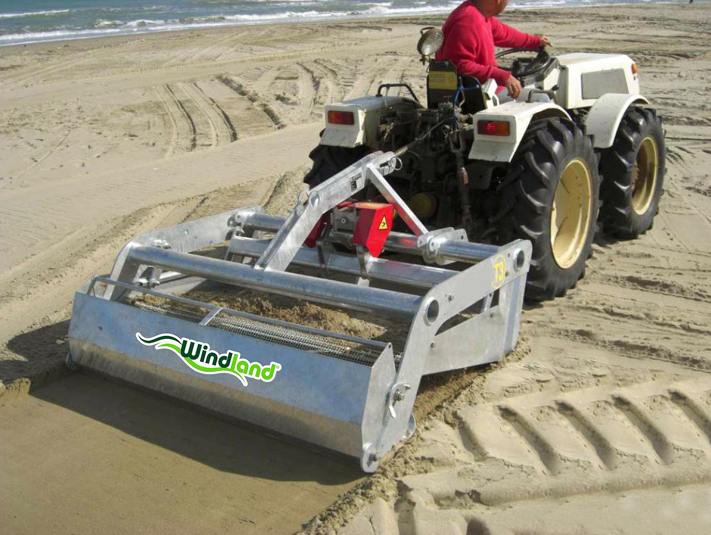 Playas limpias con un limpia playas BZS130